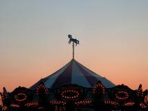 Puesta del sol del carnaval Foto de archivo libre de regalías