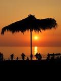 Puesta del sol del centro turístico Imagenes de archivo