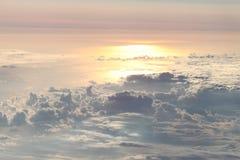 Puesta del sol del cielo Foto de archivo