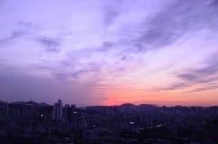 Puesta del sol del cielo Imágenes de archivo libres de regalías
