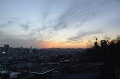 Puesta del sol del cielo Imagen de archivo libre de regalías