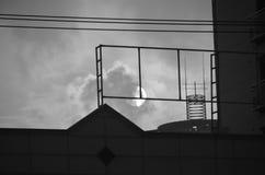 Puesta del sol del cielo Imagen de archivo