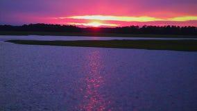 Puesta del sol del coste de Carolina del Sur Imagenes de archivo