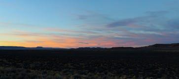 Puesta del sol del desierto Fotografía de archivo libre de regalías