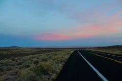 Puesta del sol del desierto Imágenes de archivo libres de regalías