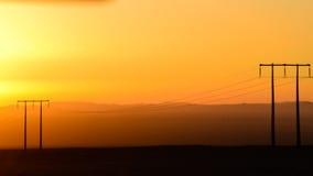 Puesta del sol del desierto Fotos de archivo libres de regalías
