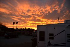 Puesta del sol del desierto de Arizona Imagen de archivo libre de regalías