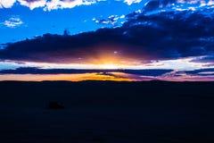 Puesta del sol del desierto de Siwa Imagen de archivo