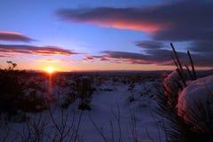 Puesta del sol del desierto Nevado Imagen de archivo
