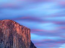 Puesta del sol del EL Capitan Yosemite fotografía de archivo libre de regalías