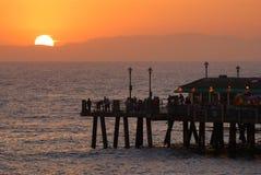 Puesta del sol del embarcadero Fotos de archivo libres de regalías