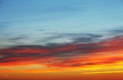 Puesta del sol del fondo del cielo Imagenes de archivo