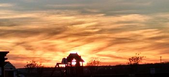 Puesta del sol del fuego Fotos de archivo