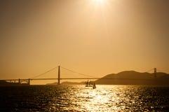 Puesta del sol del Golden Gate Imágenes de archivo libres de regalías