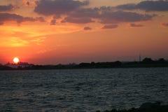 Puesta del sol del horizonte Fotografía de archivo