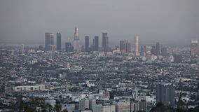 Puesta del sol del horizonte de Los Ángeles almacen de metraje de vídeo