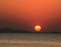 Puesta del sol del huevo Imágenes de archivo libres de regalías