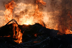 Puesta del sol del infierno Imágenes de archivo libres de regalías