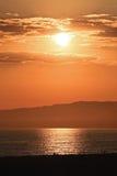 Puesta del sol del LA Imagen de archivo