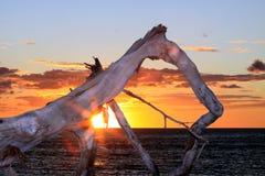 Puesta del sol del lado oeste Fotografía de archivo libre de regalías