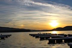 Puesta del sol del lago Foto de archivo