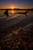 Puesta del sol del lago Benbrook Imagen de archivo
