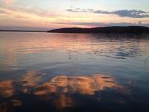 Puesta del sol del lago Lemán Fotografía de archivo libre de regalías