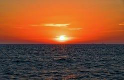 Puesta del sol del lago Michigan Foto de archivo