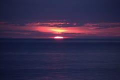 Puesta del sol del lago Ontario Imágenes de archivo libres de regalías