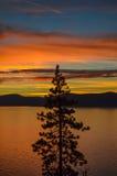 Puesta del sol del lago Tahoe Imágenes de archivo libres de regalías