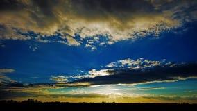 Puesta del sol del lapso de tiempo metrajes