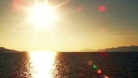 Puesta del sol del mar almacen de video