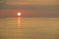 Puesta del sol del mar Imágenes de archivo libres de regalías