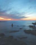 Puesta del sol del mar Fotos de archivo libres de regalías