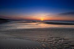 Puesta del sol del mar Báltico Foto de archivo libre de regalías