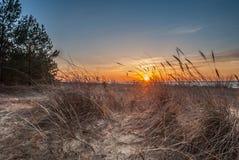 Puesta del sol del mar Báltico Imagen de archivo