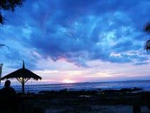Puesta del sol del mar de Tailandia Krabi Imagenes de archivo