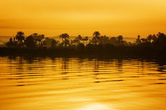Puesta del sol del Nilo Fotos de archivo