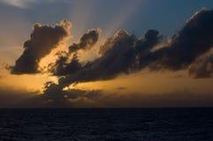 Puesta del sol del océano Fotografía de archivo libre de regalías