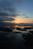 Puesta del sol del océano Fotos de archivo libres de regalías