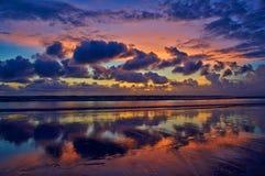 Puesta del sol del océano