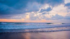 Puesta del sol del océano Foto de archivo