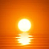 Puesta del sol del océano del ejemplo Foto de archivo