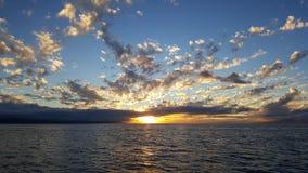 Puesta del sol del Océano Pacífico Imágenes de archivo libres de regalías