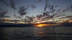 Puesta del sol del Océano Pacífico Foto de archivo