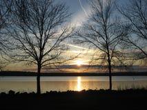 Puesta del sol del Onondaga Imagen de archivo