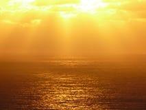 Puesta del sol del oro Fotos de archivo