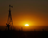 Puesta del sol del país Imagenes de archivo