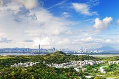 Puesta del sol del país de Hong-Kong imágenes de archivo libres de regalías
