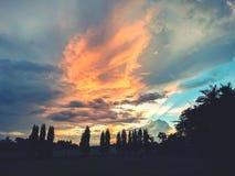 Puesta del sol del paisaje Fotografía de archivo libre de regalías